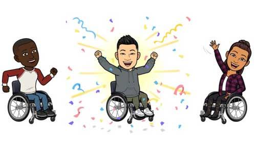 Snapchat lance ses premiers avatars fauteuil-roulant