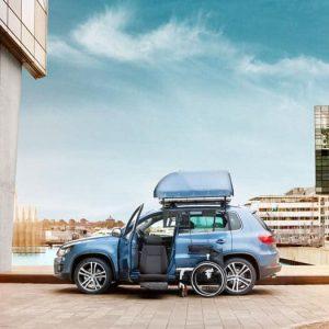 Aide au chargement PMR : coffre de toit pour fauteuil
